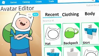 MAKING ADVENTURE TIME FINN A ROBLOX ACCOUNT