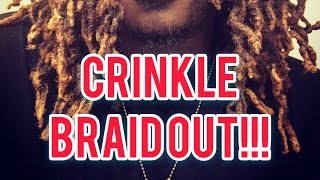 Dreadlock Update: Crinkle Braid Out!!!