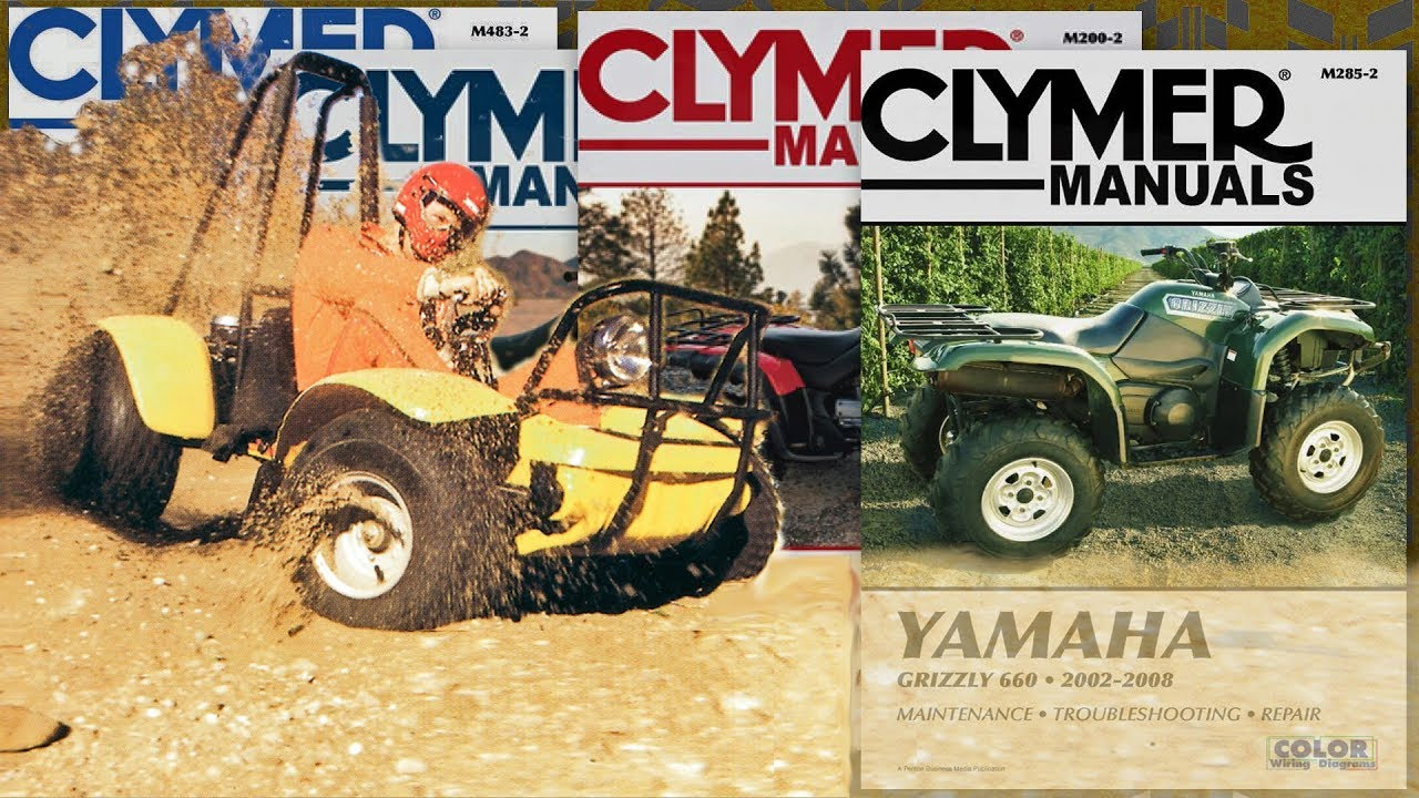 Yamaha Grizzly 660 2002-2008 Clymer ATV Repair Manual Parts ... on