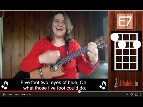 Five Foot Two Easy Ukulele Song by 21 Songs in 6 Days: Learn Ukulele the Easy Way