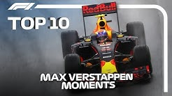 Top 10 Moments of Max Verstappen Magic in F1