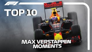 Top 10 Moments oḟ Max Verstappen Magic in F1