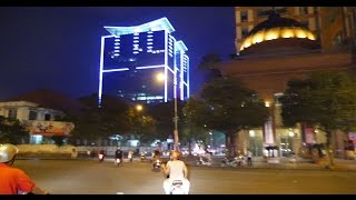 Saigon at Night   Le Loi Metro Station Construction Side Cathedral, Vincom, Hotel Rex