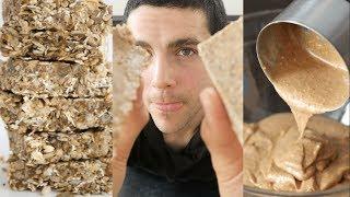 PEANUT BUTTER CRUNCH BARS | Grab & Go Breakfast Bars 🥜!!