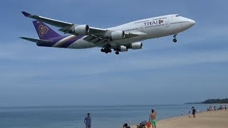 Extremely Low Arrivals At Phuket International Airport, Thailand, B747, B777, A330