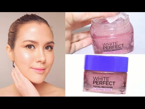 Review sleeping mask สุดHOT! L'oreal White Perfect Sleeping Mask