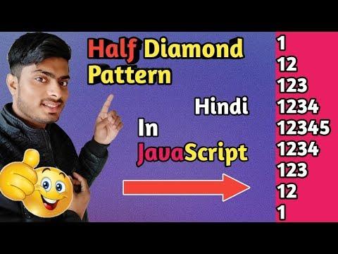 half diamond pattern in javascript | half diamond number pattern 2019 thumbnail
