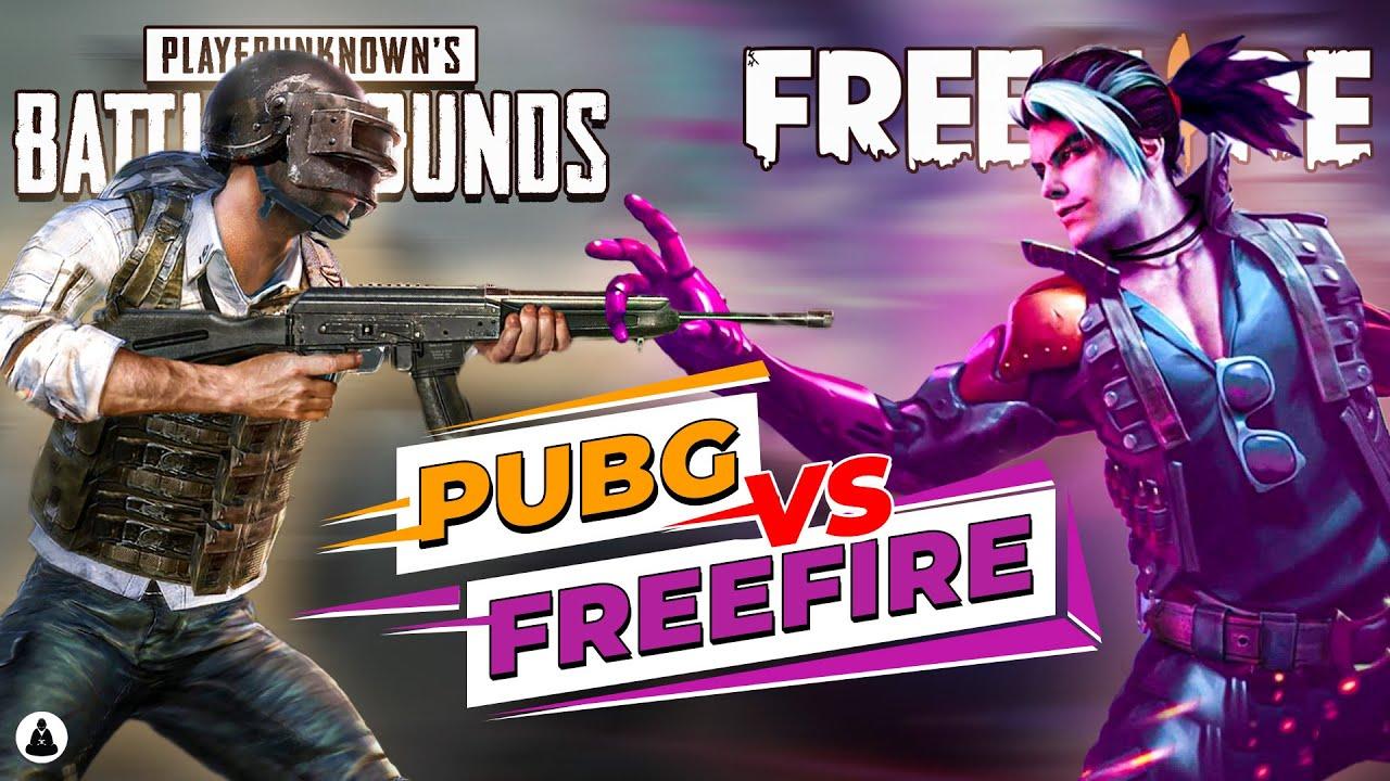 Garena Free Fire Vs Pubg Mobile Youtube