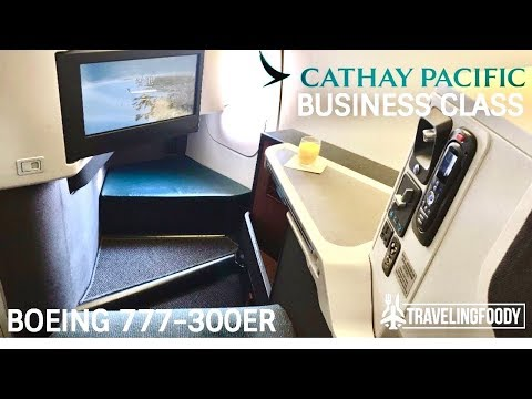 Cathay Pacific Business Class Boeing 777-300ER Hong Kong to Manila