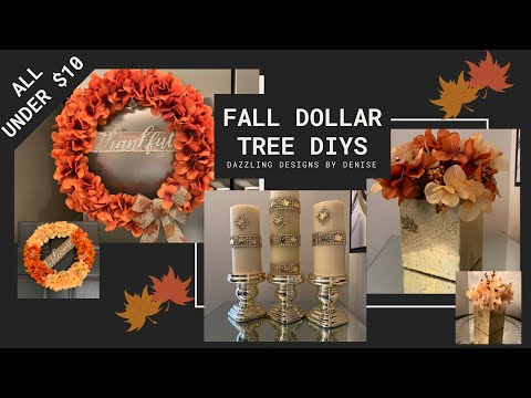 Fall Dollar Tree DIYs    🍁Easy and Inexpensive Fall Home Decor    Under $10🍁