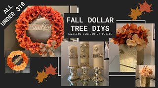 Fall Dollar Tree DIYs || �Easy and Inexpensive Fall Home Decor || Under $10�