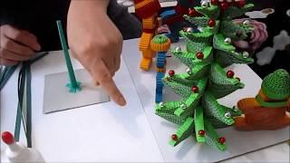 Новогодняя ёлочка из гофрированного картона своими руками(, 2015-11-15T02:17:44.000Z)