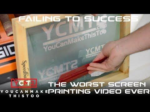 DIY Screen Printing: Failing to Success // How To