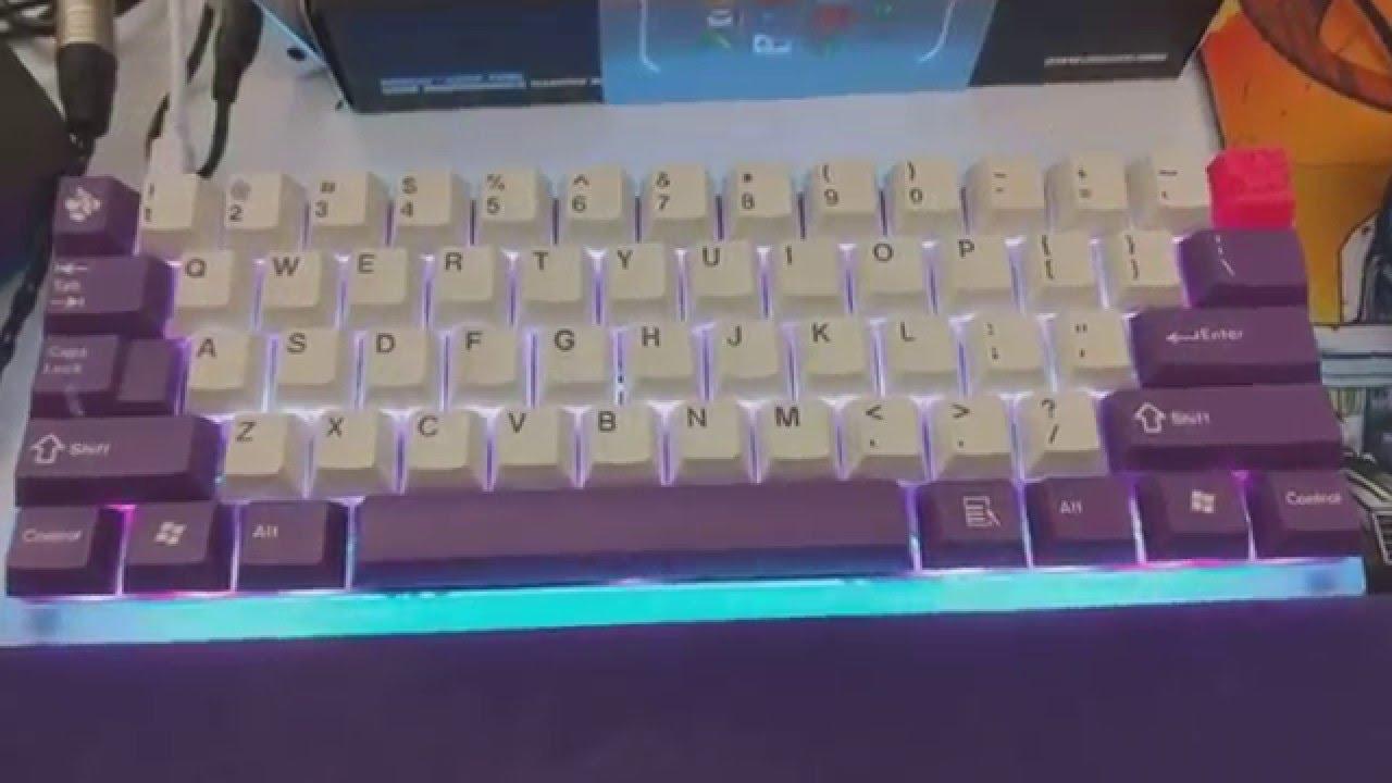 RGB Case Lighting on TEX 60% Acrylic case Custom Keyboard - YouTube