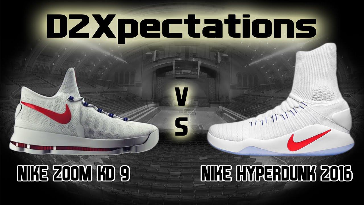 bddf6d01c3c6 Nike KD 9 VS Hyperdunk 2016