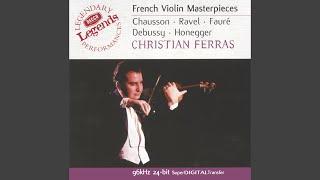 Honegger: Sonata for unaccompanied violin
