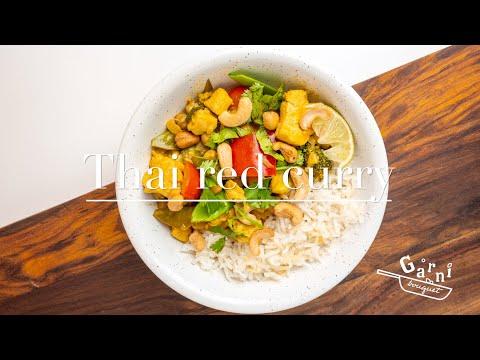 Thai Red Chicken Curry (also Vegan Option)