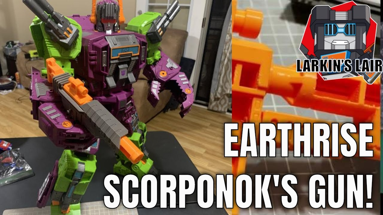 Customization Workshop: Earthrise Scorponok's Gun by Larkin's Lair