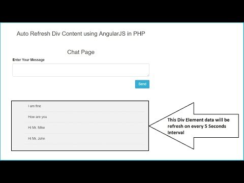 Auto Refresh Div Content using AngularJS in PHP | Webslesson