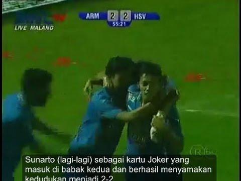 Arema vs Hamburg SV 2 - 2 Kanjuruhan Malang