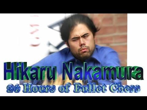 ★ Bullet Chess! ★ Hikaru Nakamura   💥 24 Hour Video / 3186 Bullet Rating ★ Chess com