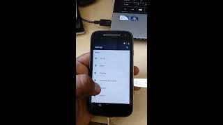 обхід Moto Е2 xt1526 xt1521 xt1528 блокування Google ФРП ( керівництво) Як включити USB налагодження