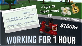 Working for 1 HOUR in Bloxburg + tips   Roblox