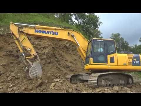 Rocky Hill Vs Excavator. Road Construction On Himalaya.