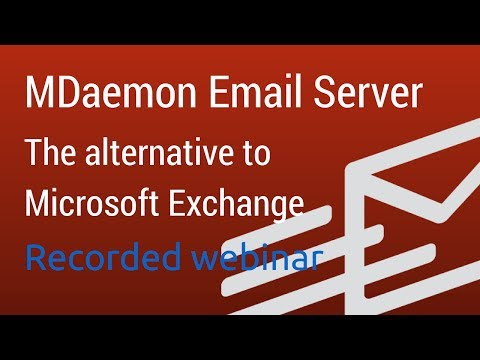 MDaemon Email Server: The Exchange Alternative For Windows - Technical Overview