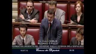 16/7/2013 Carlo Sibilia: risposta ad Alfano su espulsione Shalabayeva