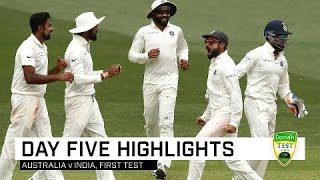 Aussies Fight Hard But  Ndia Win Gripping Contest  First Domain Test