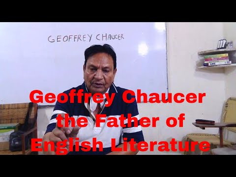 Geoffrey Chaucer   The Father Of English Literature   MA English   PU   Amin Baig