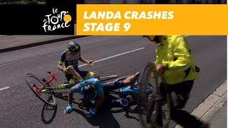 Landa crashes! - Stage 9 - Tour de France 2018