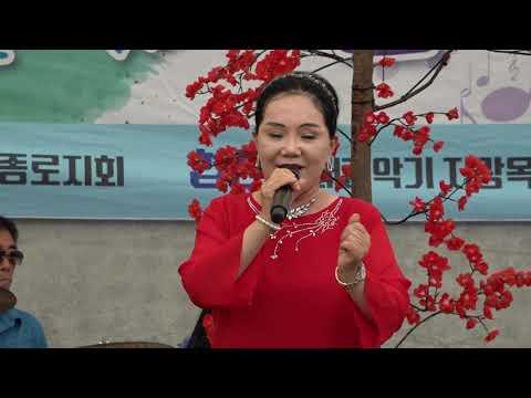가수 안송화 부초같은인생  효사랑어울림한마당 용두그린공원 무대 2019 6 23