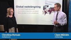 Ny konjunkturprognos: Global nedstängning