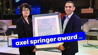 BioNTech founders Özlem Türeci und Uğur Şahin honored with Axel Springer Award