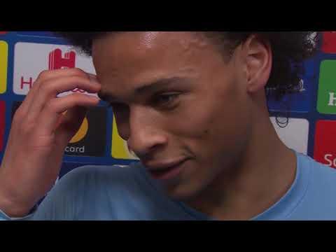 Leroy Sane im DAZN Interview nach Schalke vs Manchester City