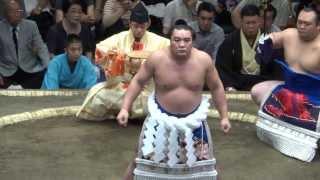 20130915大相撲秋場所 初日 横綱日馬富士 土俵入り.