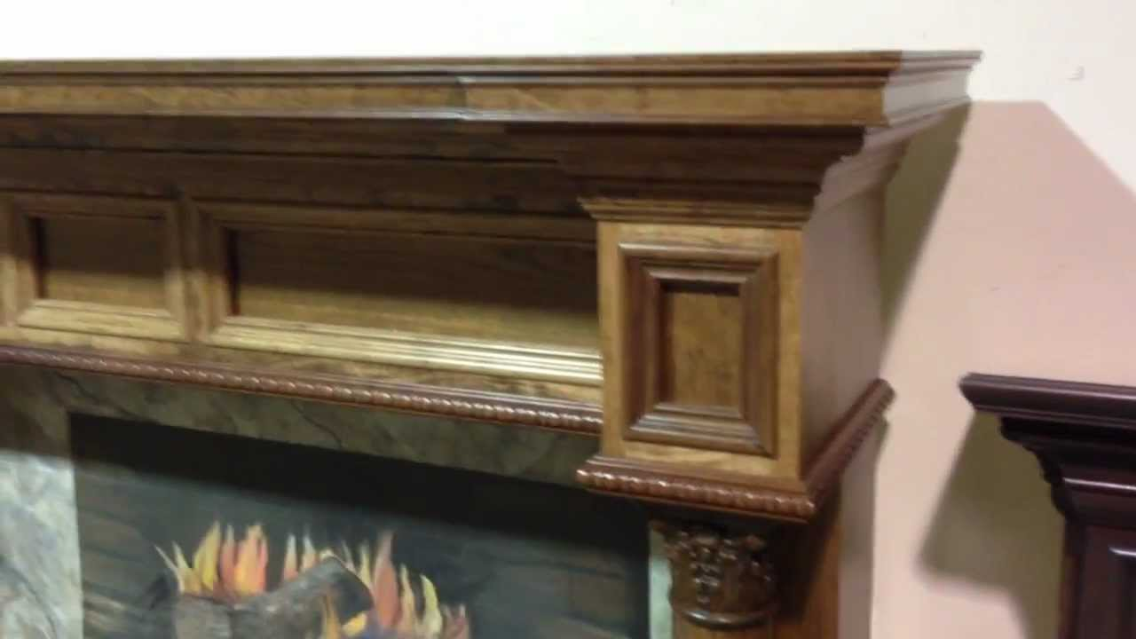 the burlington mantel wooden fireplace mantels youtube