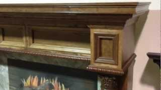 The Burlington Mantel - Wooden Fireplace Mantels
