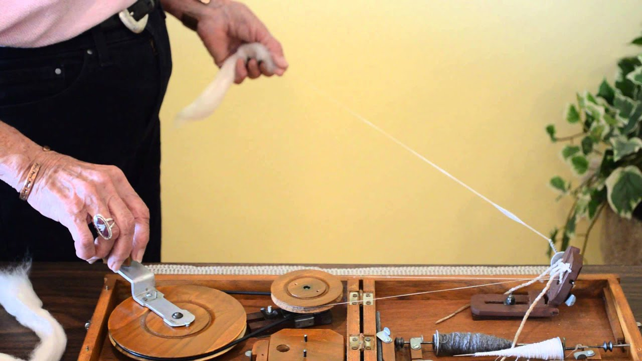 Step 2 Spinning on a Indian Book Charkha by Joan Ruane