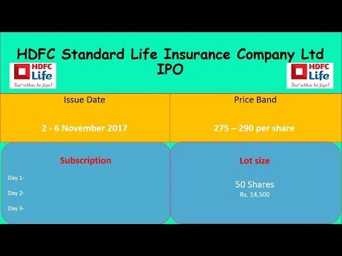 HDFC Standard Life Insurance Company Ltd IPO | Corrected Video |