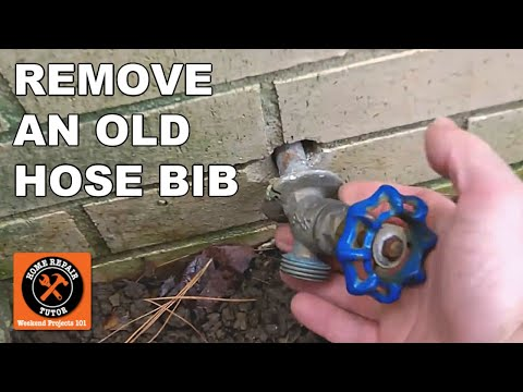 outdoor water faucet assembly. frost free sillcocks-how to remove the old hose bib -- by home repair tutor - youtube outdoor water faucet assembly