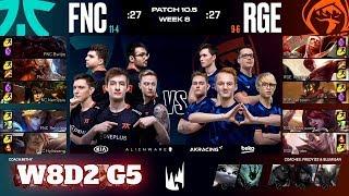 Fnatic vs Rogue   Week 8 Day 2 S10 LEC Spring 2020   FNC vs RGE W8D2