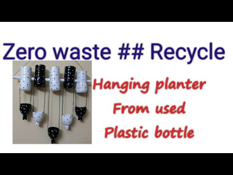 plastic-bottle-recycle-craft##hanging-planter###