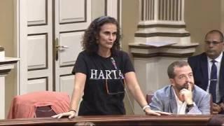 Asun Delgado (Podemos) debate con David de la Hoz