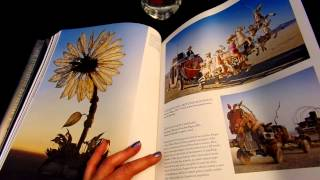 ASMR- #54 Burning Man book - page turning -silent- no talking