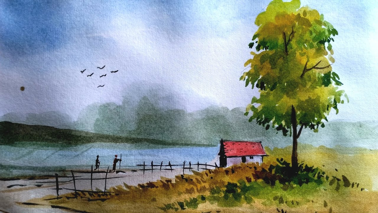 Simple Watercolor Landscapes | www.pixshark.com - Images ...