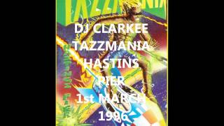 DJ CLARKEE TAZZMANIA HASTINGS PIER 1st MARCH 1996