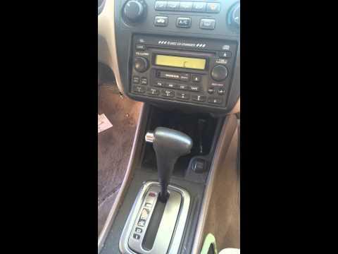 2002 Honda Accord Radio CODE and ERROR display